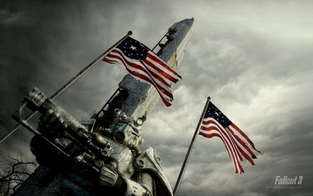 Chevalier de la Confrérie de l'acier devant le Washington Monument