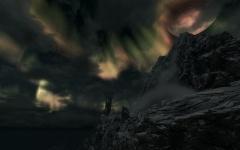 Azura sous une belle aurore boréale
