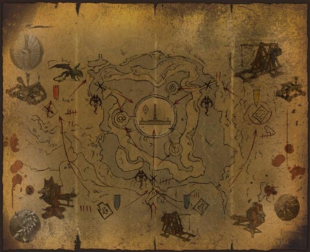 Carte de siège de la cité impériale