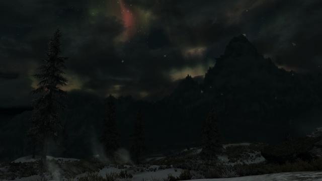 03 - Une aurore boréale sous le sommet