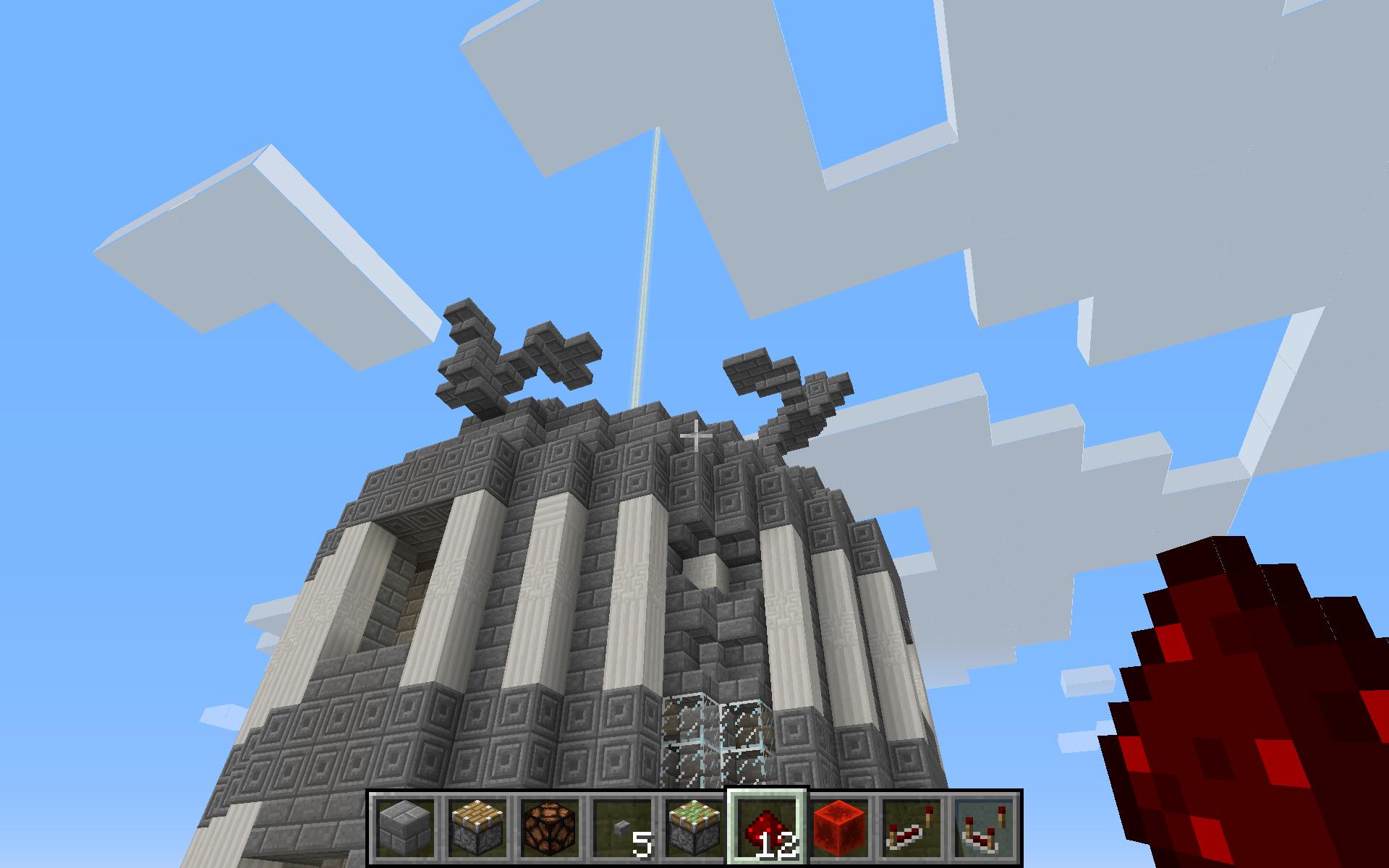 Essai de statues sur le dome