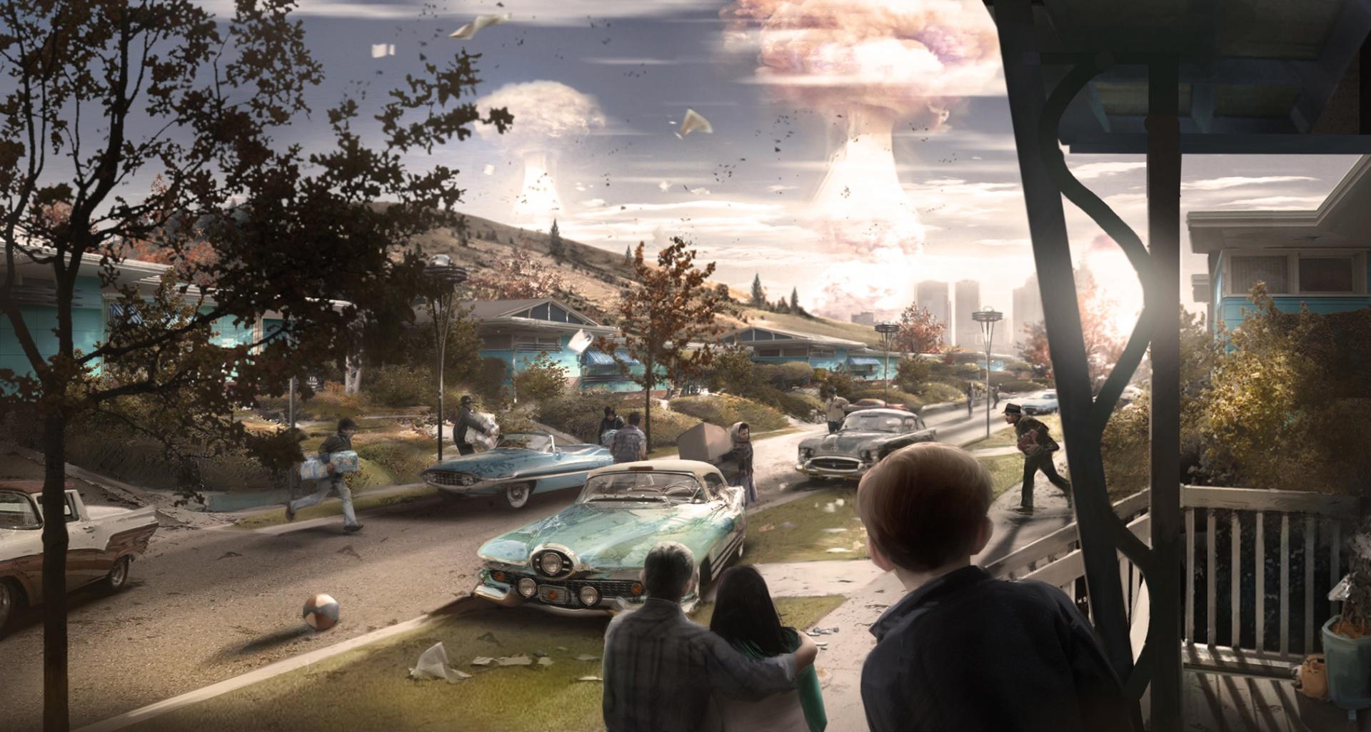 Chute des bombes