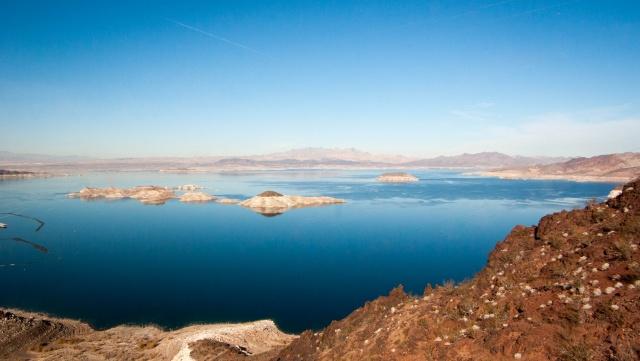 Bonus : le lac Mead vu du sud-ouest