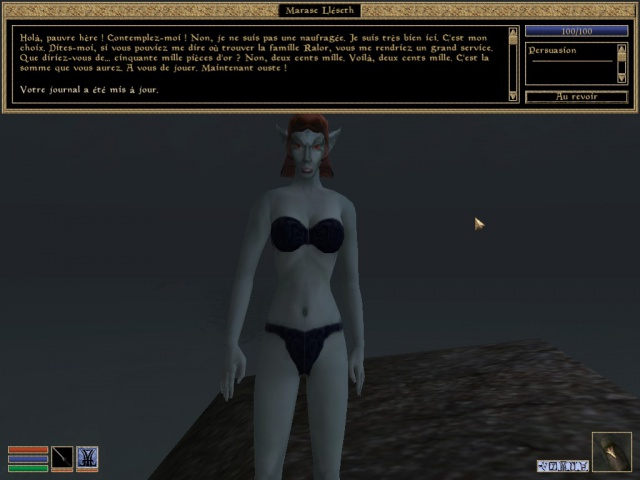 Encore des nudistes en Morrowind !