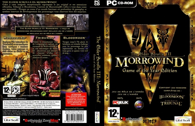 Cover Morrowind GOTY VF