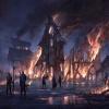 Bâtiments en feu