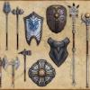 Armes et boucliers artisanaux